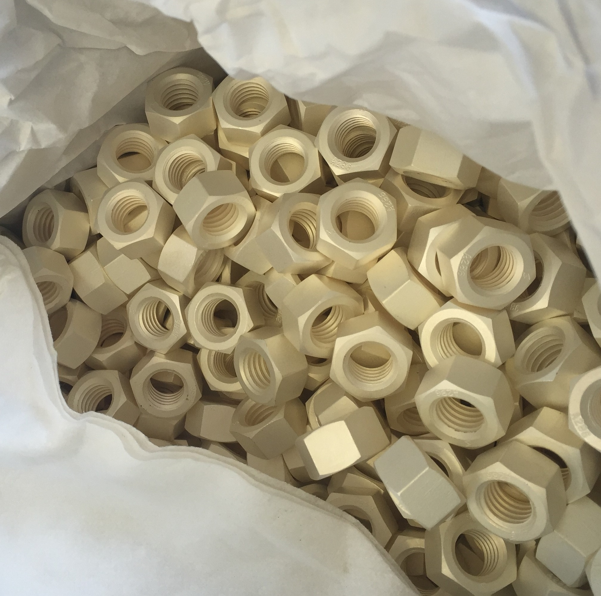 5/8(11) A286 Hex Nut Silver Plated
