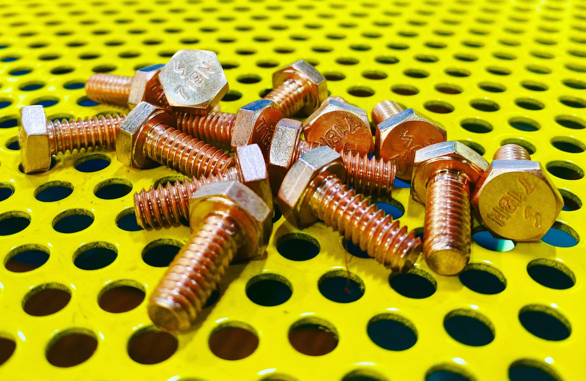 Copper Plated 718 inconel hex cap screw